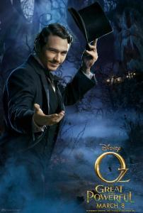 James Franco nel character poster de Il grande e potente Oz