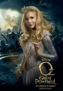 Michelle Williams nel character poster de Il grande e potente Oz