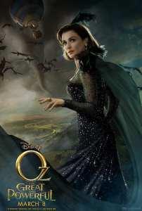 Rachel Weisz nel character poster de Il grande e potente Oz
