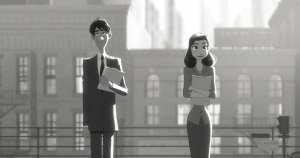 Un'immagine di The Paperman, il corto d'animazione della Disney candidato all'Oscar