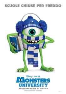 Il poster invernale di Monsters University