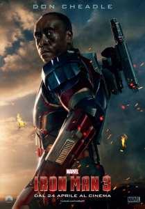 Don Cheadle è Iron Patriot nel character poster di Iron Man 3
