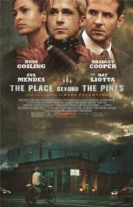 Eva Mendes, Ryan Gosling e Bradley Cooper nel poster di The Place Beyond The Pines