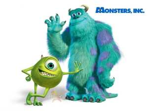Mike e Sulley, protagonisti di Monsters & Co.