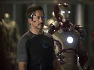 Robert Downey Jr. in un'immagine di Iron Man 3