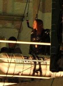 Scarlett Johansson sul set di Captain America: The Winter Soldier