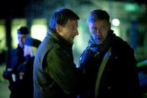 Tobias Zilliacus e Mikael Persbrandt, i due interpreti principali de L'ipnotista