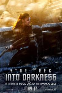 Zoe Saldana nel character poster di Into Darkness - Star Trek