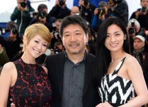 Yoko Maki, Hirokazu Koreeda e Machiko Ono | © Pascal Le Segretain/Getty Images