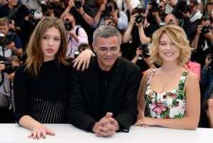 Adele Exarchopoulos, Abdellatif Kechiche e Lea Seydoux   © Pascal Le Segretain/Getty Images