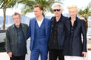 John Hurt, Tom Hiddleston, Jim Jarmusch e Tilda Swinton   © Vittorio Zunino/Getty Images