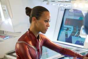 Zoe Saldana è Uhura in Into Darkness - Star Trek