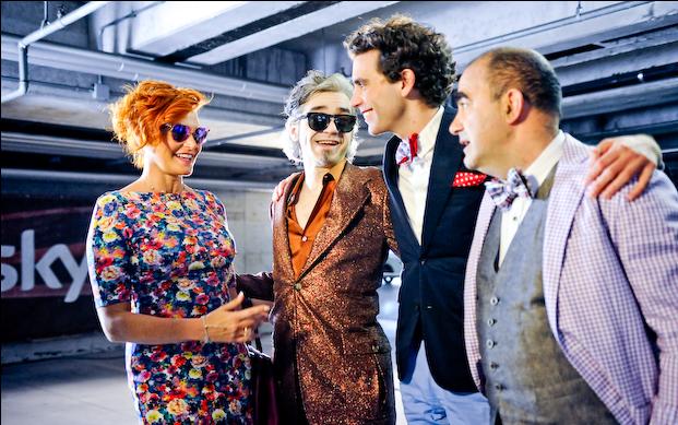 I Giudici di X Factor: Simona Ventura, Morgan, Mika, Elio.
