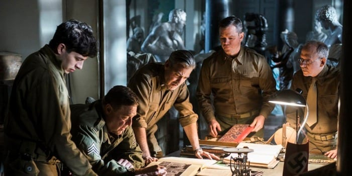 "Una scena del film ""Monuments Men"""