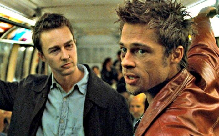Edward Norton e Brad Pitt