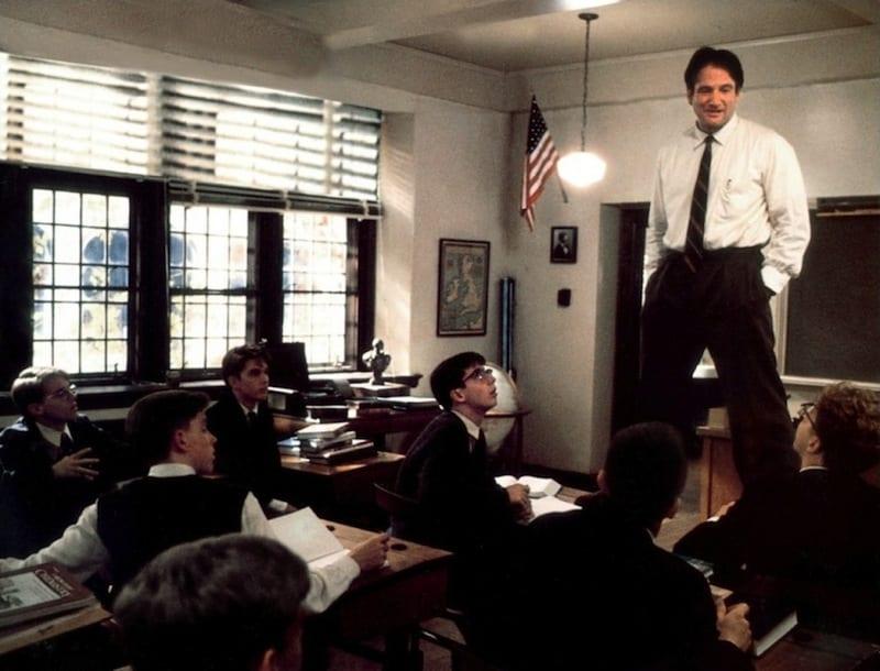 Robin Williams ne L'attimo fuggente