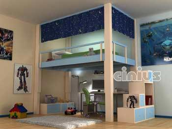 Cinius  Lit mezzanine RISING mezzanine rgable lectriquement en hauteur Une nouvelle faon