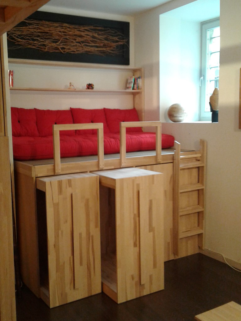 Cinius  Foto progetti realizzati di mobili su misura letti a soppalco cabine armadio