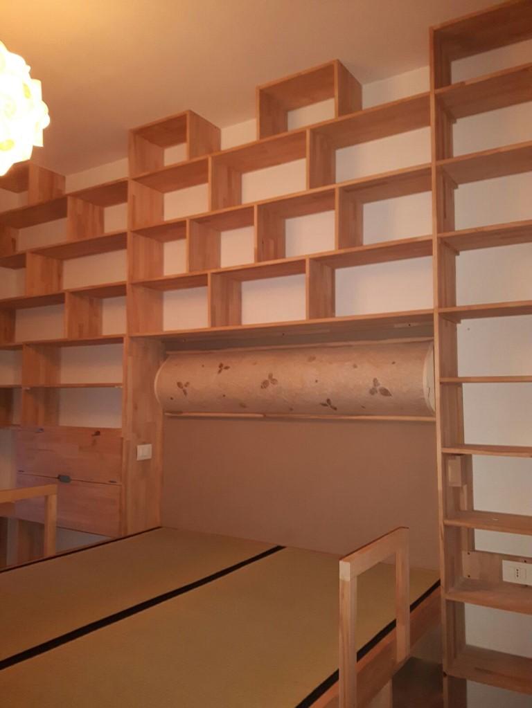 Cinius  Libreria in legno massello faggio massello
