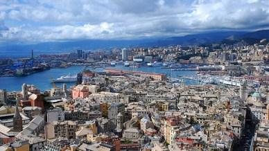 Vue sur la ville de Gênes