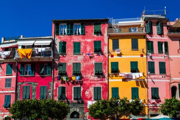 Façades colorées de Ligurie