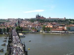 Praga con il Ponte San Carlo