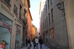 Bologna, quartiere ebraico, ingresso via dé Giudei oggi
