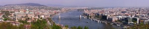 Budapest, panorama dal monte Gellért