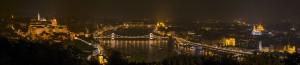 Budapest, panorama notturno