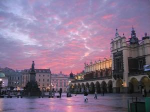 Cracovia, la piazza del centro storico