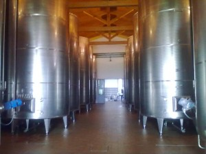 Cantine Chiarli, botti per la fermentazione del Lambrusco