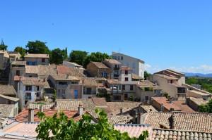 Provenza, Valensole, veduta del borgo