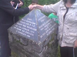 McKenna's Fort, Irlanda, pietra in memoria della cattura di Roger Casement
