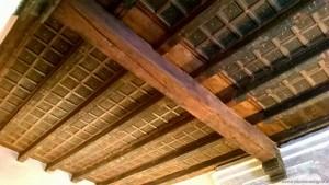 Bologna, Corte Isolani, soffitto a cassettoni