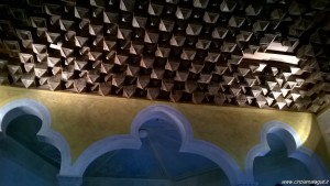 Rocchetta Mattei, studio, soffitto in cartapesta