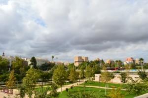 Valencia, panoramica con le Torres de Serranos