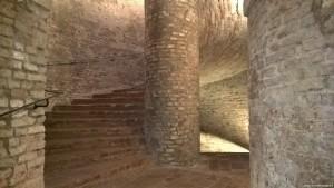 Vignola, Palazzo Barozzi, scala a chiocciola, piano interrato