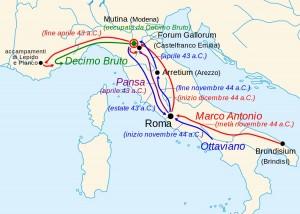 Movimenti dei due schieramenti nella guerra civile di Modena