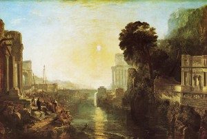 La fondazione di Cartagine con Didone in un dipinto di William Turner (1815)