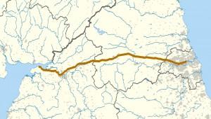 Vallo di Adriano, tracciato