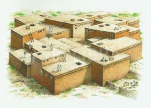 Catal Huyuk, villaggio, ricostruzione storica