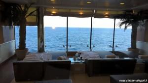 MSC Opera, crociera ai Caraibi, veduta dallo spazio relax dell'area benessere