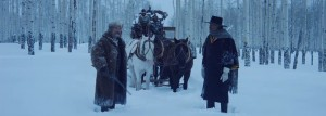 The hateful eight, scena con Samuel L. Jackson e Kirt Russel