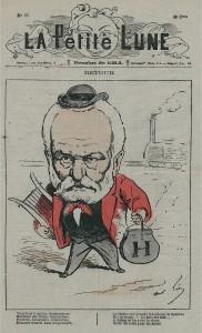 Il ritorno in Francia di Victor Hugo, caricatura di André Gill