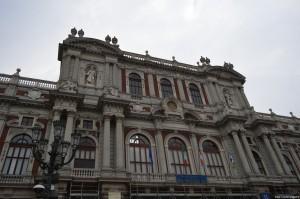 Palazzo Carignano, facciata ottocentesca
