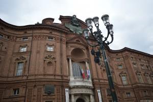 Torino, Palazzo Carignano, facciata seicentesca