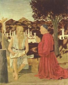 Piero della Francesca, San Girolamo e il donatore Girolamo Amadi (1450 circa)