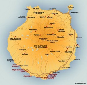 Gran Canaria, mappa