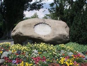 Costanza, pietra commemorativa nel luogo dove avvenne il rogo di Jan Hus