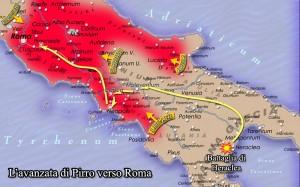 L'avanzata di Pirro verso Roma
